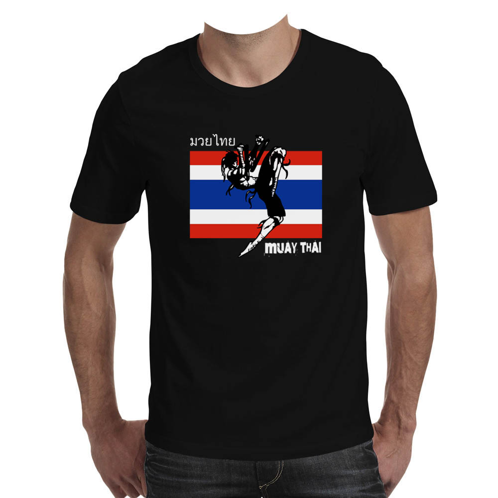 T shirt Muay Thai  made in PERU  black  ds2