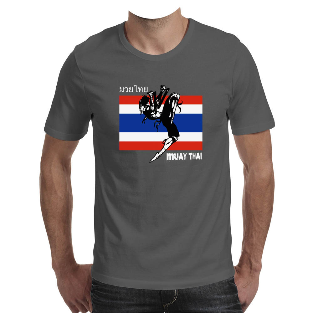 T shirt Muay Thai  made in PERU Dark Grey  ds2