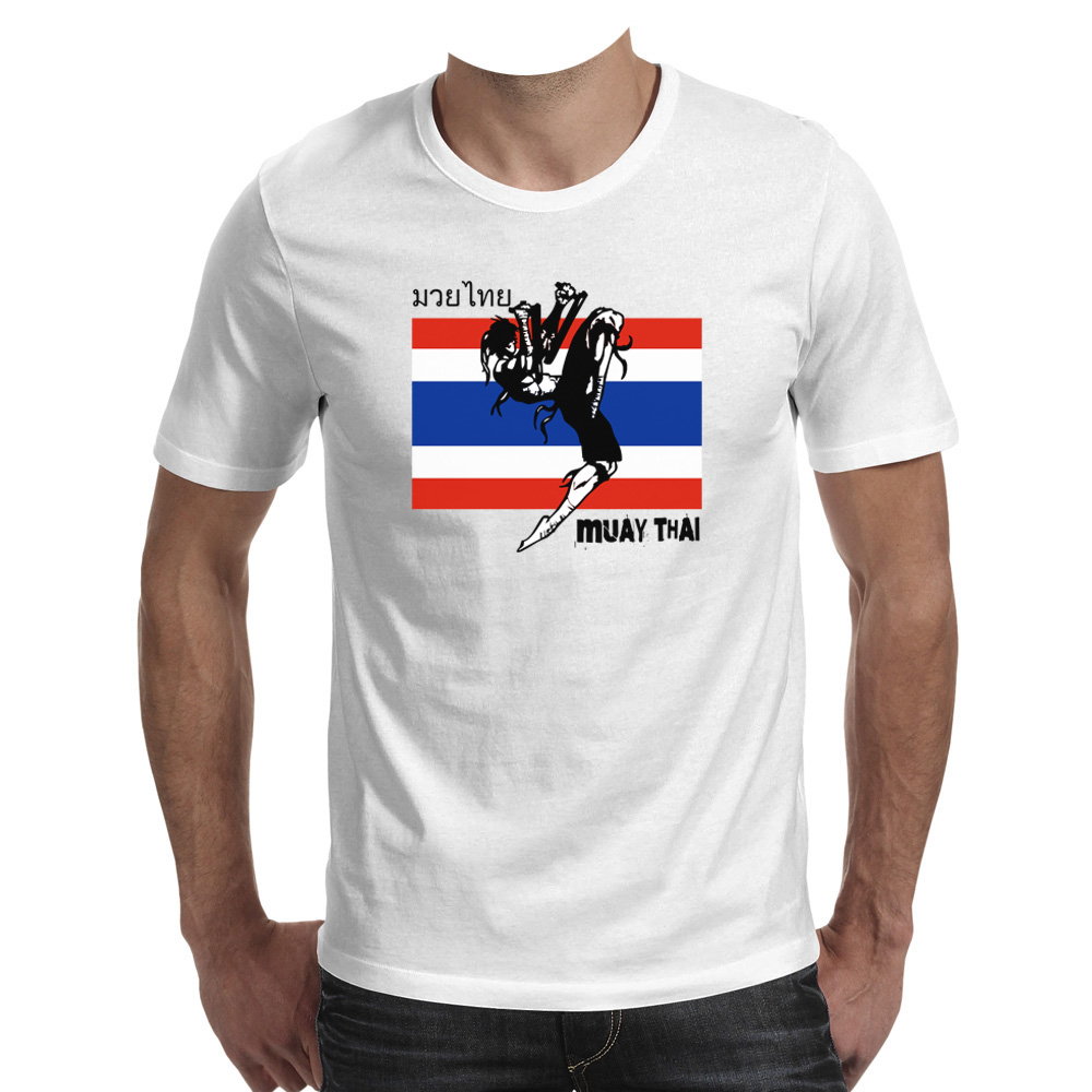 T shirt Muay Thai  made in PERU White   ds2